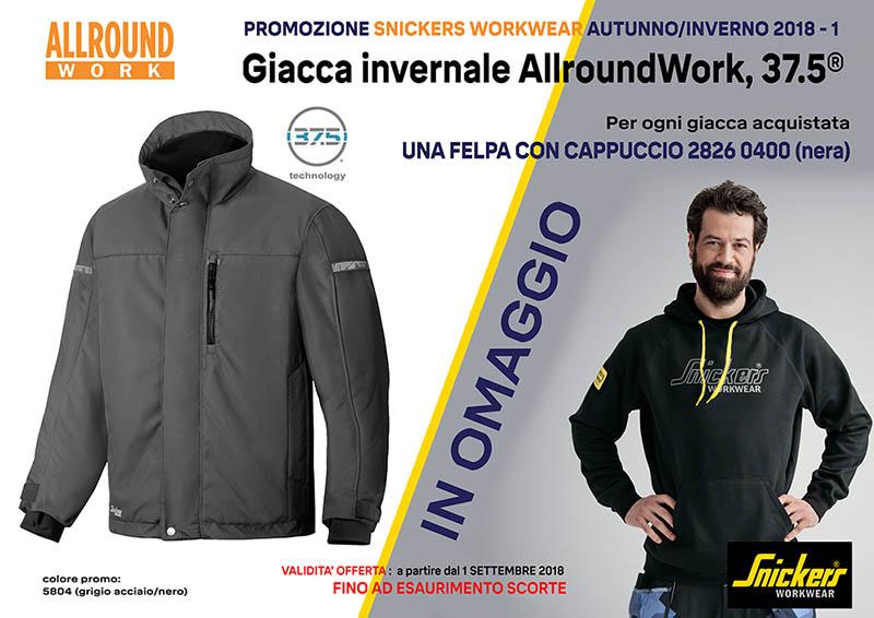 PROMO GIACCA INVERNALE ALLROUNDWORK 37.5 COD. 1100