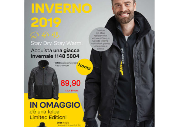 PROMO GIACCA INVERNALE ALLROUNDWORK MOD. 1148